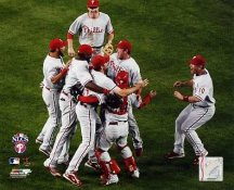 Phillies 2008 NLCS Game 5 Win Phillies Team 8X10 Photo