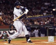 Evan Longoria ALCS Game 4 HR Rookie Record 5th HR in Postseason 2008 LIMITED STOCK Rays 8X10 Photo