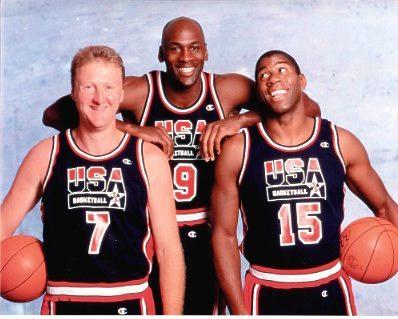 Michael Jordan, Magic Johnson & Larry Bird Dream Team USA 8X10 Photo LIMITED STOCK