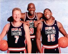Michael Jordan, Magic Johnson & Larry Bird Dream Team USA 8X10 Photo LIMITED STOCK