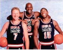 Michael Jordan, Magic Johnson & Larry Bird Dream Team USA Slight Corner Crease SUPER SALE 8X10 Photo