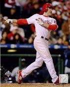 Chase Utley Game 3 HR World Series 2008 Champs Phillies 8X10 Photo
