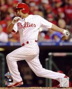 Shane Victorino Game 5 RBI Single 2008 World Series LIMITED STOCK 8X10 Photo