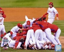 Phillies 2008 WS Celebration World Series 8X10 Photo