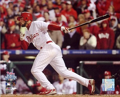 Pedro Feliz Game 5 RBI World Series 2008 Phillies 8X10 Photo