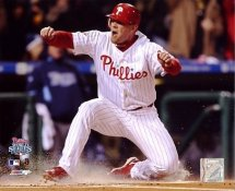 Geoff Jenkins Game 5 World Series Sliding Home 2008 LIMITED STOCK Phillies 8X10 Photo
