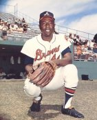 Hank Aaron Atlanta Braves Glossy Cardboard Stock 8X10 Photo