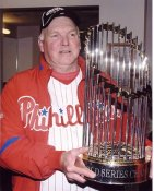 Charlie Manuel 2008 World Series Champs Philadelphia Phillies 8X10 Photo
