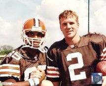 Kevin Johnson / Tim Couch G1 OUT OF PRINT Browns 8X10 Photo