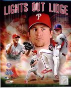 Brad Lidge World Series 2008 Lights Out Lidge Phillies 8X10 Photo