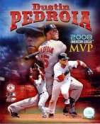 Dustin Pedroia 2008 MVP Boston Red Sox 8x10 Photo