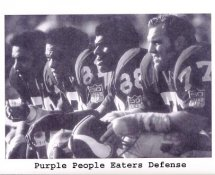 Purple People Eaters Defense 8X10 Photo