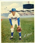 Gene Michael Original Stadium Souvenir With Stamped Signature Dodgers 8X10 Photo