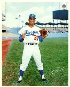 Ron Hunt Original Stadium Souvenir With Stamped Signature Dodgers 8X10 Photo