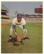 Willie Davis Original Stadium Souvenir With Stamped Signature Dodgers 8X10 Photo