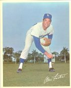 Alan Foster Original Stadium Souvenir With Stamped Signature Dodgers 8X10 Photo