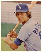Tom Paciorek Original Stadium Souvenir With Stamped Signature Dodgers 8X10 Photo