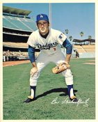 Bill Grabarkewitz Original Stadium Souvenir With Stamped Signature Dodgers 8X10 Photo