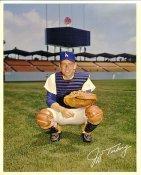 Jeff Torborg Original Stadium Souvenir With Stamped Signature Dodgers 8X10 Photo
