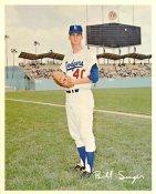 Bill Singer Original Stadium Souvenir With Stamped Signature Dodgers 8X10 Photo