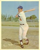 Len Gabrielson Original Stadium Souvenir With Stamped Signature Dodgers 8X10 Photo
