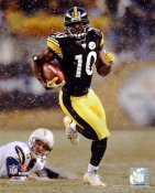 Santonio Holmes 2008 Playoffs LIMITED STOCK Pittsburgh Steelers 8x10 Photo