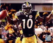 Santonio Holmes 2009 AFC Champion Game LIMITED STOCK Pittsburgh Steelers 8x10 Photo