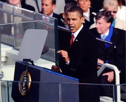 President Barack Obama Inaugural Address 8x10 Photo