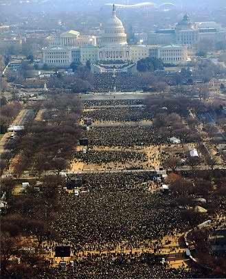 President Barack Obama Inaugural Crowd 8x10 Photo