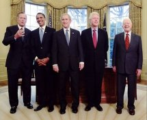 Jimmy Carter, George Bush,Barack Obama, George W Bush, Bill Clinton 8x10 Photo