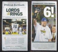 Steelers 2009 Super Bowl 43 Pittsburgh Post Gazette Newspaper