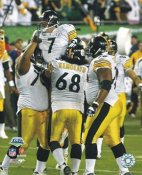 Ben Roethlisberger, Max Starks, Chris Kemoeatu Super Bowl 43 LIMITED STOCK Pittsburgh Steelers 8x10 Photo