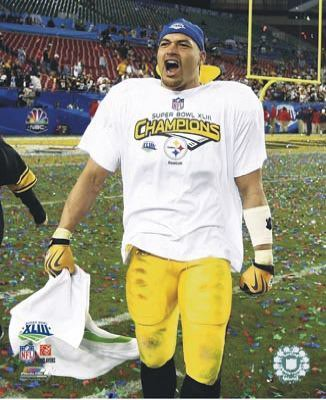 James Farrior Super Bowl 43 LIMITED STOCK Pittsburgh Steelers 8x10 Photo