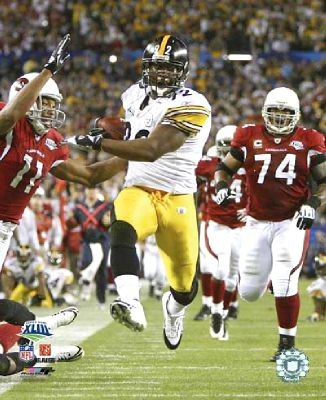 James Harrison Interception & TD LIMITED Super Bowl 43 Pittsburgh Steelers 8x10 Photo