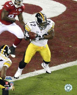 James Harrison Interception LIMITED Close-Up Super Bowl 43 Pittsburgh Steelers 8x10 Photo