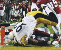 James Harrison TD Interception Close-Up Super Bowl 43 LIMITED STOCK Pittsburgh Steelers 8x10 Photo