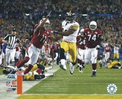 James Harrison TD Interception Super Bowl 43 LIMITED STOCK Pittsburgh Steelers 8x10 Photo