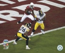 James Harrison INT & Deshea Townsend Super Bowl 43 LIMITED STOCK Pittsburgh Steelers 8x10 Photo