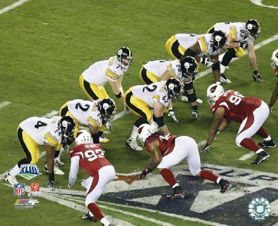 Willie Colon, Darnell Stapleton, Justin Hartwig, Ben Roethlisberger, Chris Kemoeatu, Max Starks, Heath Miller LIMITED STOCK Super Bowl 43 Pittsburgh Steelers 8x10 Photo