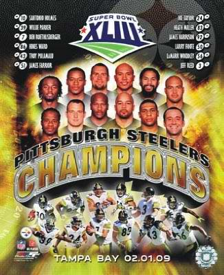 Steelers 2009 Super Bowl 43 Champions Compostie LIMITED STOCK Pittsburgh 8x10 Photo