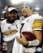 Mike Tomlin & Ben Roethlisberger Super Bowl 43 Pittsburgh Steelers 8x10 Photo