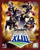 Steelers 2009 Super Bowl Black Uniform Composite Pittsburgh Team 8x10 Photo