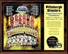 Steelers 2009 Super Bowl 43 Champions 12x15 Walnut Style Team Plaque