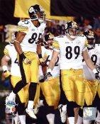 Matt Spaeth & Nate Washington Celebrate Super Bowl 43 Pittsburgh Steelers 8x10 Photo