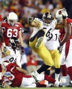 Lamarr Woodley Sacks Warner Super Bowl 43 Pittsburgh Steelers 8x10 Photo LIMITED STOCK -