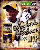 Santonio Holmes MVP Composite Super Bowl 43 Pittsburgh Steelers 8x10 Photo