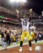 Santonio Holmes TD to win Super Bowl 43 Celebration LIMITED STOCK Pittsburgh Steelers 8x10 Photo