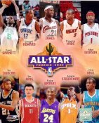 Tim Duncan,Yao Ming, Kobe Bryant, Amar'e Stoudemire,Chris Paul,Kevin Garnett,Dwight Howard Lebron James,Dwyane Wade,Allen Iverson LIMITED STOCK 2009 All Stars 8X10 Photo