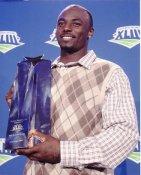 Santonio Holmes MVP Trophy Super Bowl 43 Pittsburgh Steelers 8x10 Photo