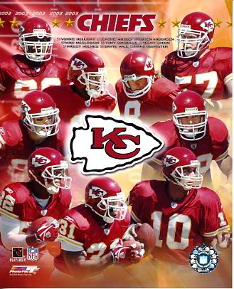 KC 2003 Chiefs Team Composite 8X10 Photo